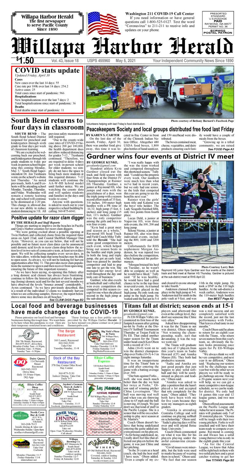 May 5, 2021 Willapa Harbor Herald and Pacific County Press