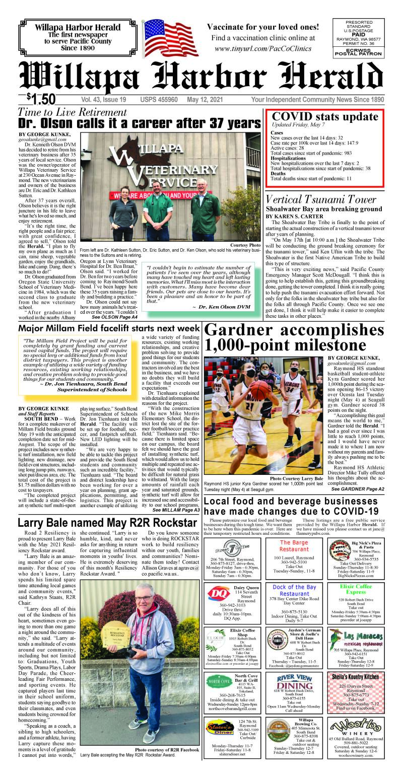May 12, 2021 Willapa Harbor Herald and Pacific County Press