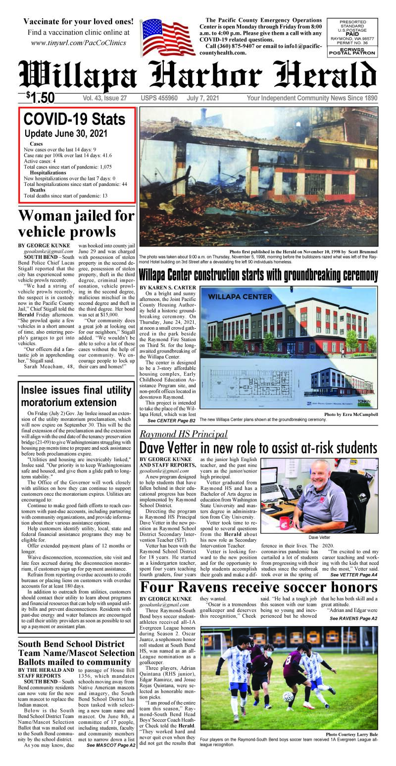 Jul 7, 2021 Willapa Harbor Herald and Pacific County Press