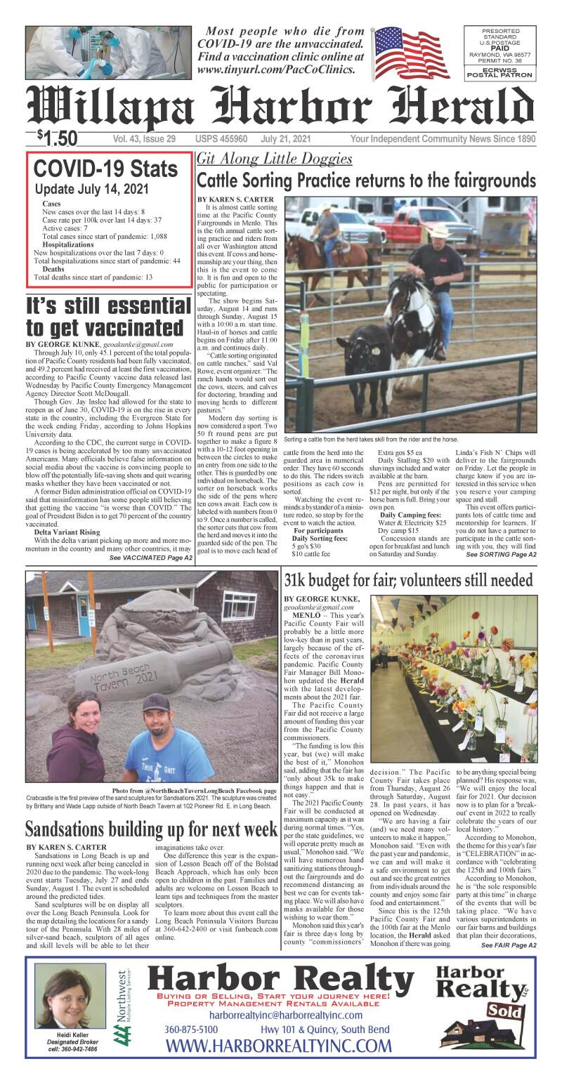 July 21, 2021 Willapa Harbor Herald and Pacific County Press