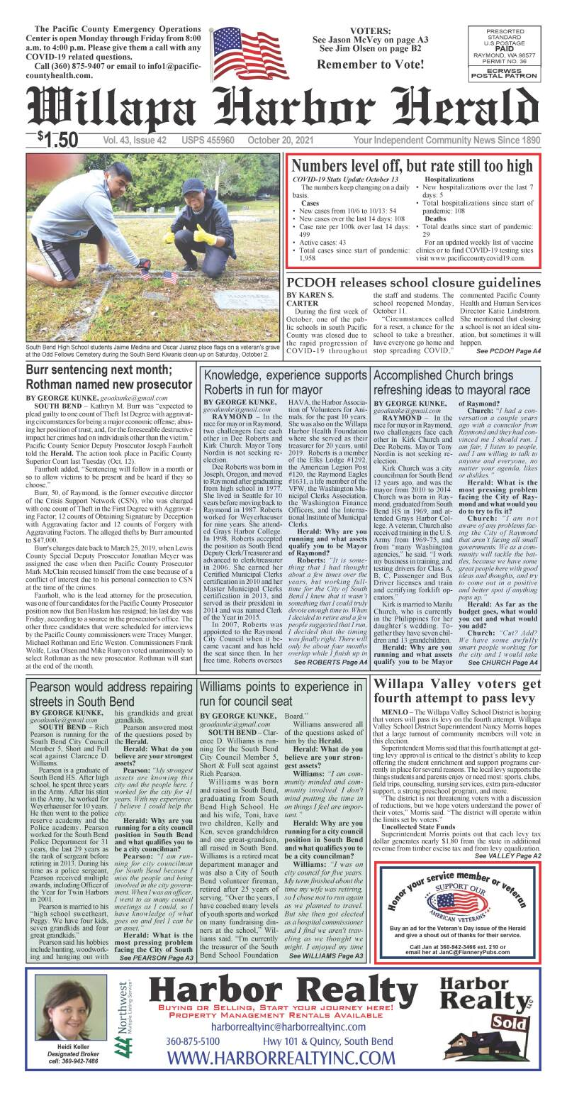 October 20, 2021 Willapa Harbor Herald and Pacific County Press