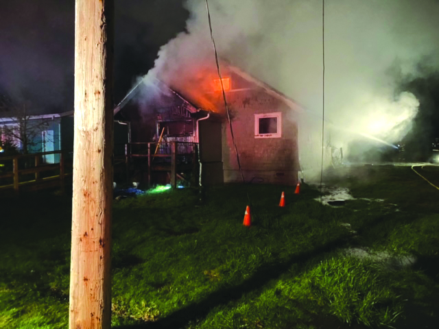 In Raymond: Fire destroys house, displacing family