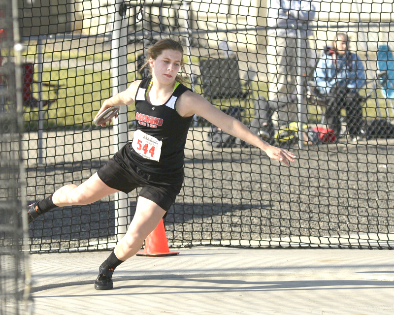 Freeman sets State record in discus;  Seagulls earn fourth straight trophy