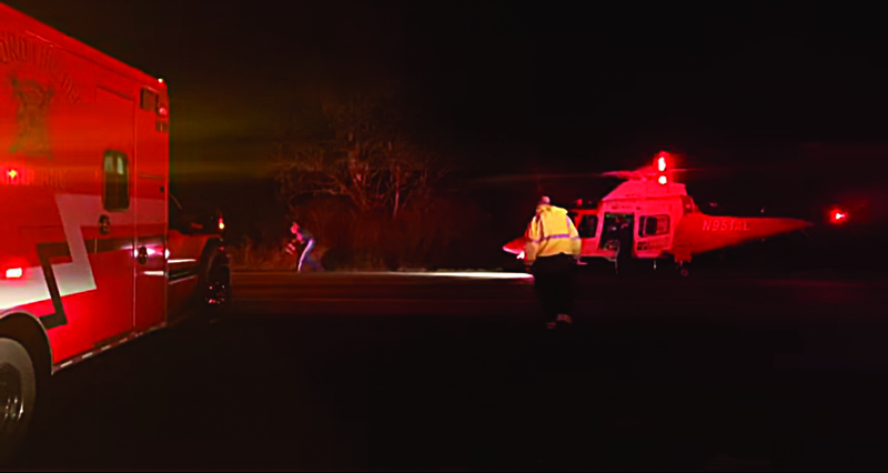 Two airlifted after smashup on 101