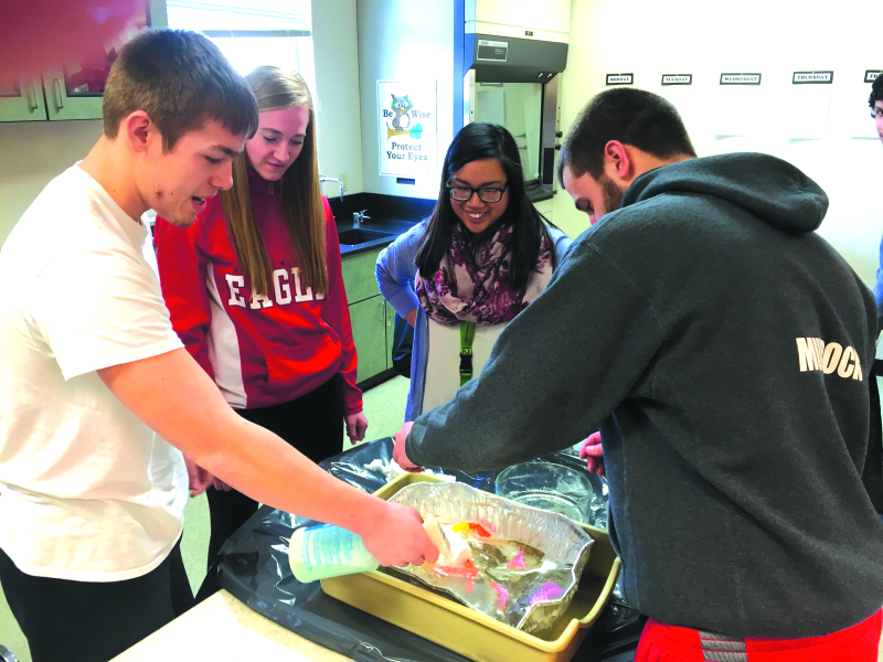 Raymond biology science class  puts the environment first