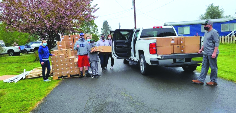 Peacekeepers Society and local groups distributed free food last Friday