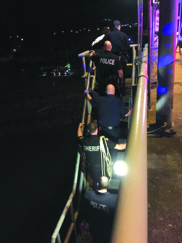 Suicidal woman rescued under Simpson Ave Bridge